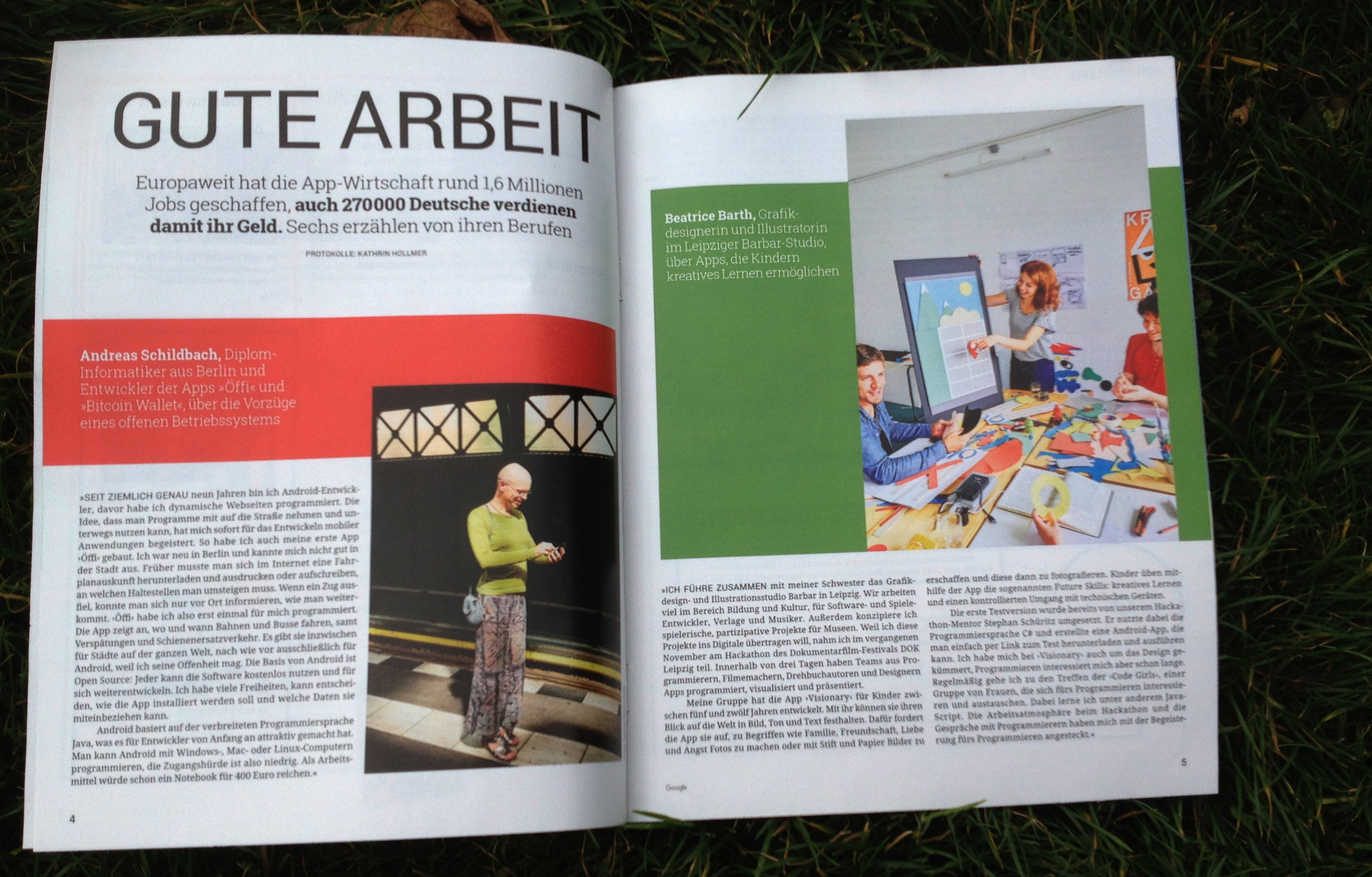 google magazin interview